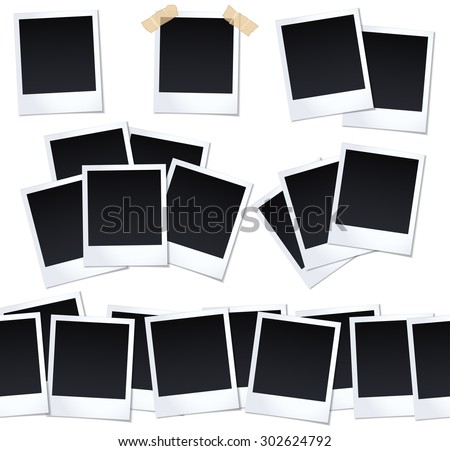 Set of photos (frames). Vector illustration photoframes for picture - stock vector