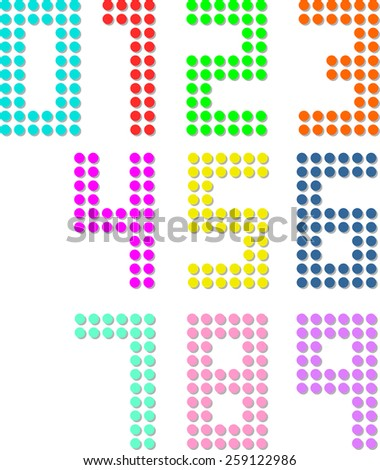 Set of pixel digit numbers. Vector illustration Eps 8. - stock vector