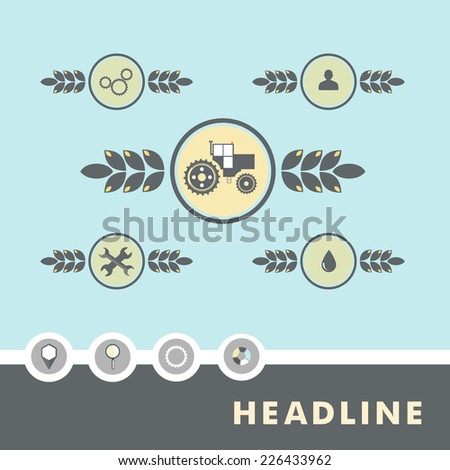 Set of planar vector characters relating to agriculture. - stock vector