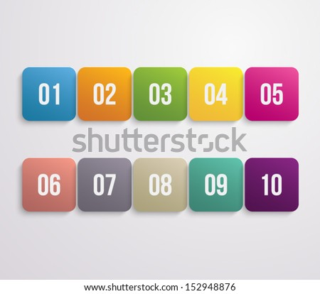 Set of plastic buttons for websites (UI) or business design - stock vector