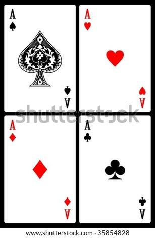 Set of playing cards. - stock vector