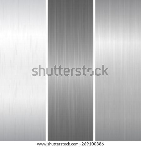 Set of polished metallic surface - stock vector