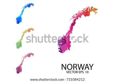Norway Map Stock Images RoyaltyFree Images Vectors Shutterstock - Norway map eps