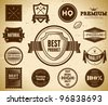 Set of Premium Quality labels - stock vector