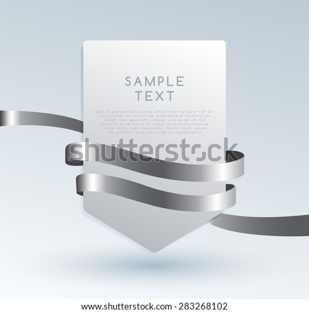 Set Of Premium Ribbons. Vector Illustration - stock vector