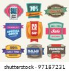 Set of Premium Sale Labels - stock photo