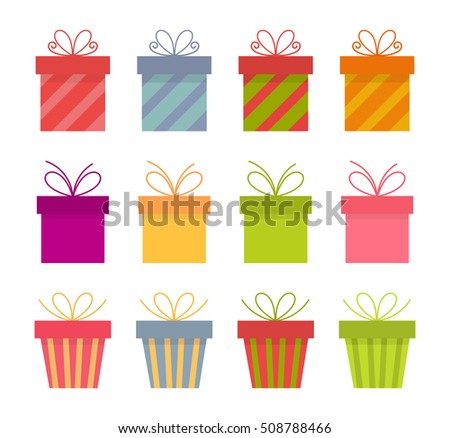 Set of presents. Vector illustration