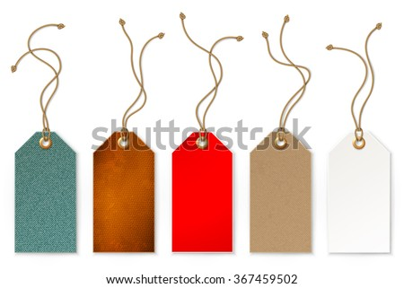 Set of price and sale tags for store, vector illustration - stock vector