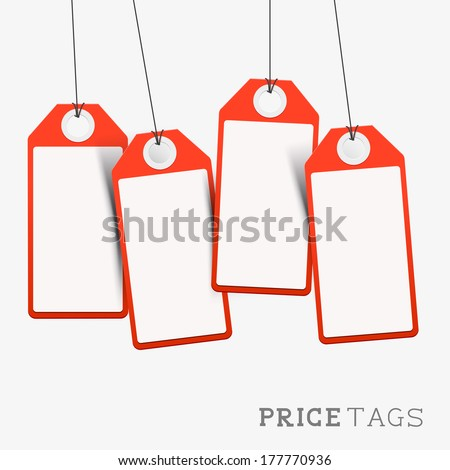 Set of Price And Sales Labels. Vector illustration.