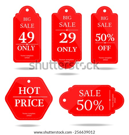 set of price tag-vector  - stock vector