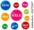 Set of price tags - stock photo