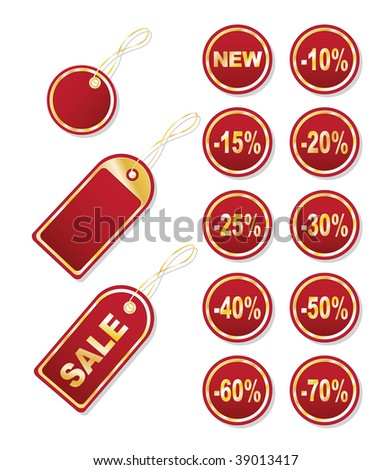 Set of price tags. This illustration can be used for your design.
