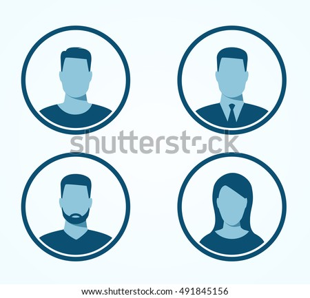 Set of profile icons