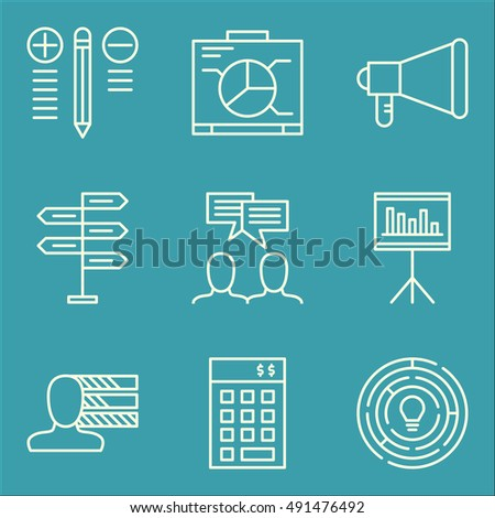 Set Of Project Management Icons On Decision Making, Investment, Creativity And More. Premium Quality EPS10 Vector Illustration For Mobile, App, UI Design.