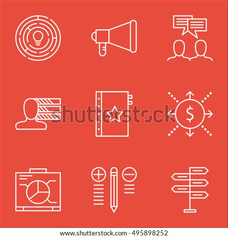 Set Of Project Management Icons On Personal Skills, Opportunity, Board And More. Includes Warranty, Discussion, Opportunity And Other Vector Icons.