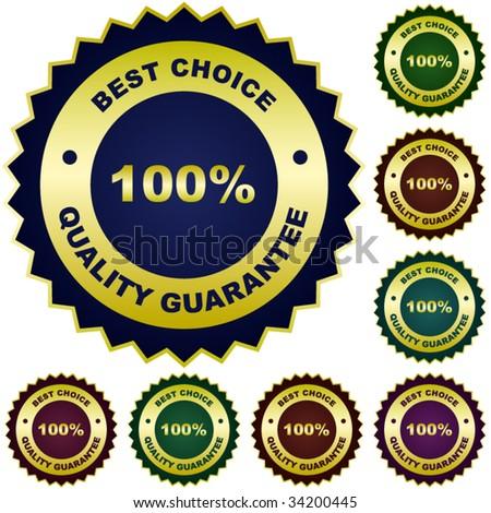 Set of quality guaranteed seals. - stock vector