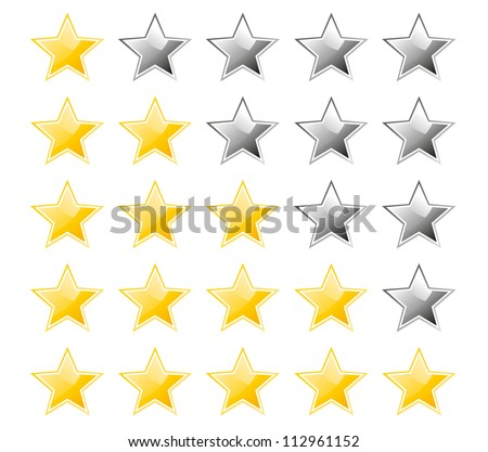 Set of rating stars - stock vector