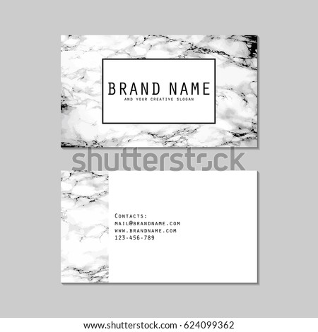Set ready made business card light stock vector 624099362 shutterstock set of ready made business card with light grey faux marble texture modern multipurpose minimalist reheart Image collections