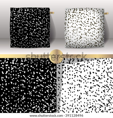 Set Of Realistic 3d Throw Pillows With Seamless Pattern Samples Apartment Interior Design Element