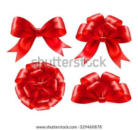 Set red gift bows ribbons vector stock vector 329460878 shutterstock set of red gift bows with ribbons vector illustration eps 10 negle Gallery