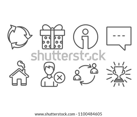 set remove account recycle gift box stock vector royalty free