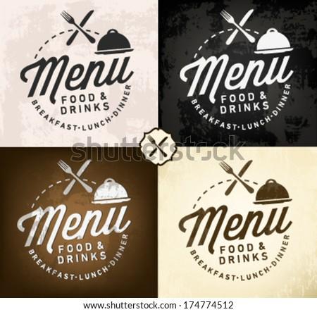 Set of Restaurant Menu Designs in Vintage Style - stock vector