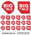 Set of Retail Tags - Big Sale and Percentage - stock photo