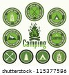 Set of retro camping  badges and labels - stock photo