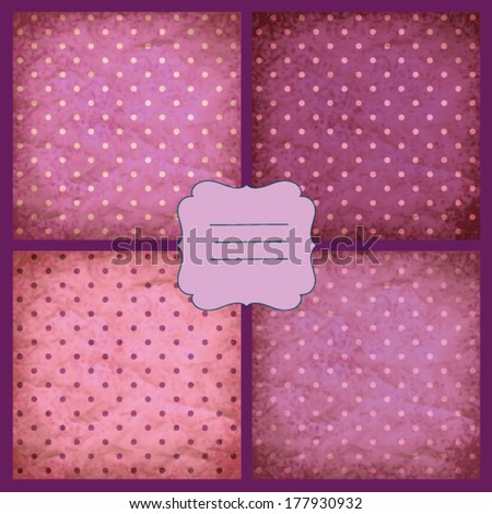 Set of retro pink vector pattern, eps10