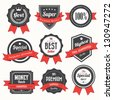 Set of retro vintage badges and labels.eps10 - stock