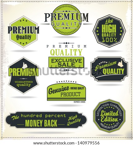 Set of Retro Vintage labels - stock vector
