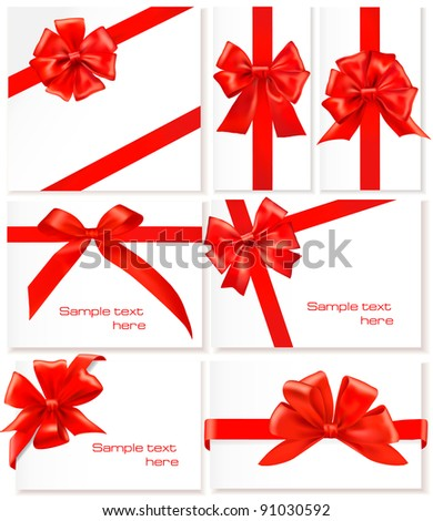 Set of ribbons. Vectors. - stock vector