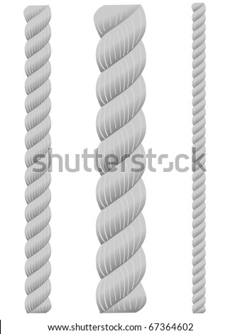 set of ropes - stock vector