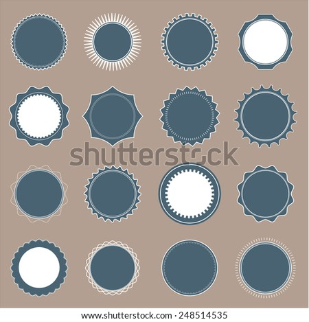 set round badge shapes stock vector royalty free 248514535