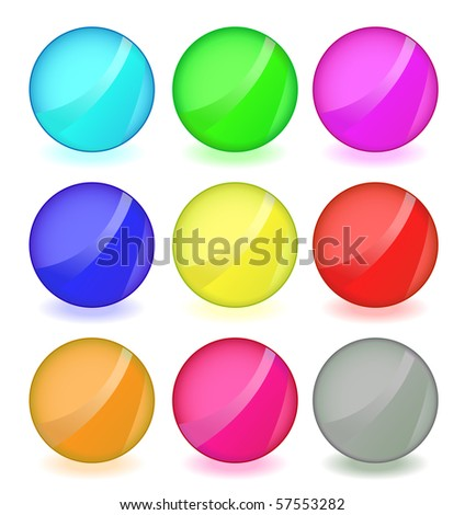 Set of round buttons.
