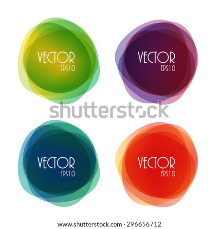 Set of Round Circle Colorful Vector Shapes EPS10