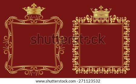 set of royal borders - stock vector