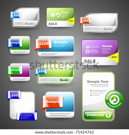 Set of sale badges. Bonus banner and coupon set. Special offer tags. - stock vector