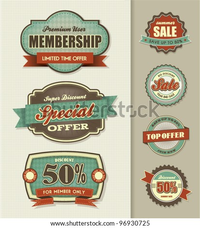 Set of Sale Labels - stock vector