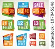 Set of sale labels and banners - stock