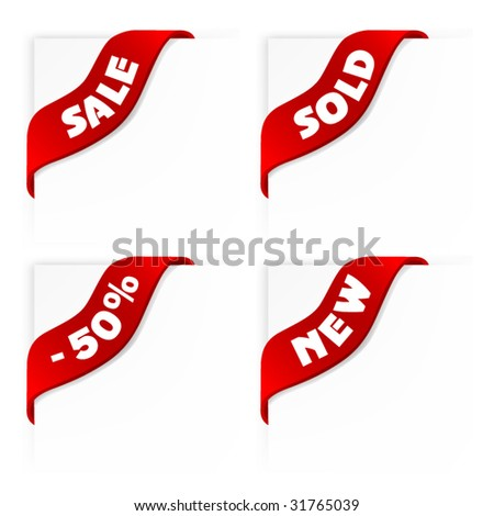 set of sale labels - vector ribbons