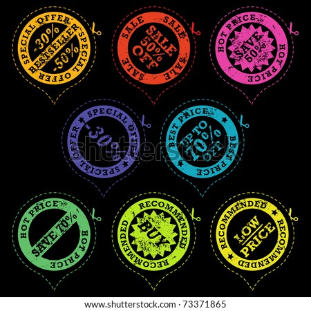 Set of sale stickers - stock vector