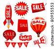 set of sale vector - stock vector