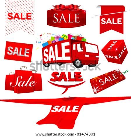 set of sale vector - stock vector
