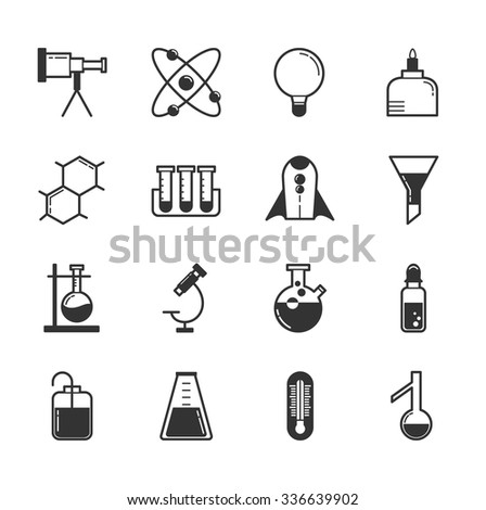 Set of science icons , eps10 vector format - stock vector