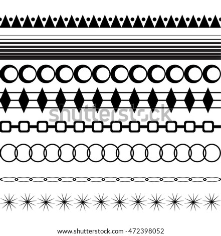 Set of Seamless Border Patterns
