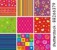 Set of seamless colorful patterns. Vector Illustration - stock vector