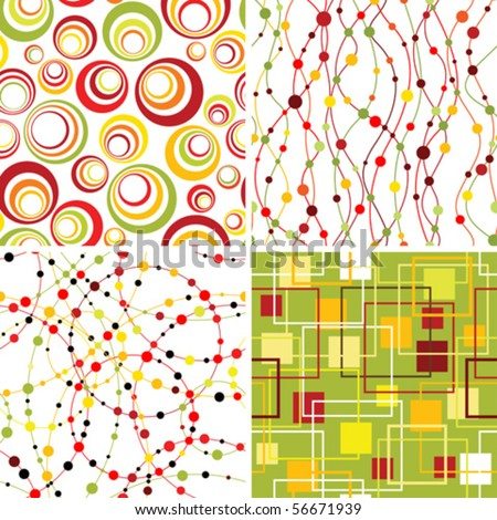 Set of seamless geometric backgrounds. - stock vector