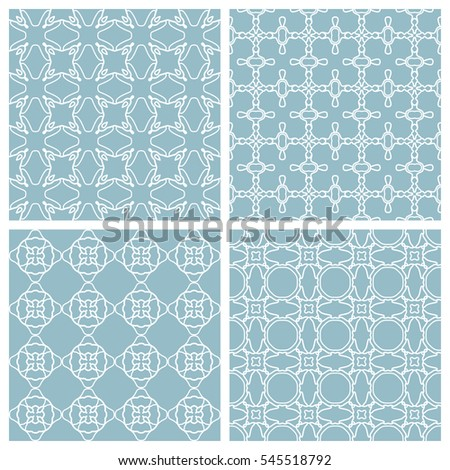 Set of seamless geometric line patterns. Contemporary graphic design. Colored endless texture for wallpaper, pattern fills, web page line backgrounds. Tribal ethnic arabic, indian ornament