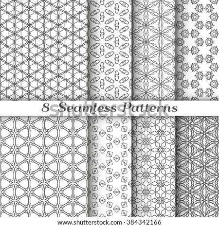 Set 8 seamless islamic patterns arabian stock vector 28 for 8x4 bathroom ideas